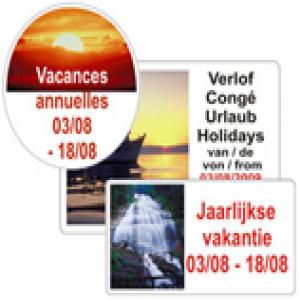 Vakantie etiketten logo