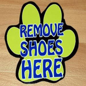 Vloerstickers antislip logo