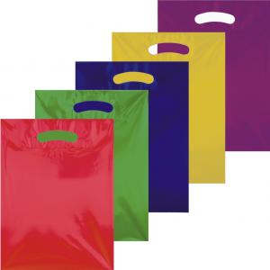 Bedrukte plastic draagtassen logo