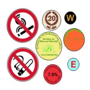 Ronde etiketten logo