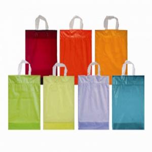 Plastic draagtassen logo