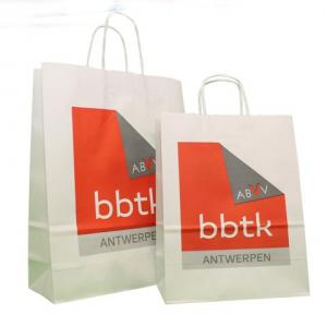 Bedrukte papieren tassen logo