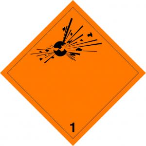 Klasse 1: ontploffingsgevaarlijke stoffen en voorwerpen logo