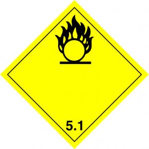 Klasse 5: oxiderend/organische peroxiden logo