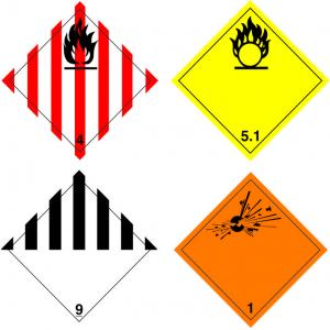 Gevaarsetiketten en Containeretiketten logo