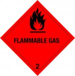 2.1 Brandbare gassen met tekst (Flammable gas) logo
