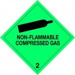 2.2 Samengeperste gassen met tekst (Non-flammable compressed gas) logo