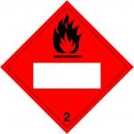 2.1 Brandbare gassen met wit UN-vlak logo