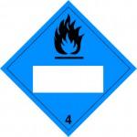 4.3 Stoffen die in contact met water brandbare gassen ontwikkelen met wit UN-vlak logo