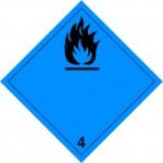 4.3 Stoffen die in contact met water brandbare gassen ontwikkelen zonder tekst logo