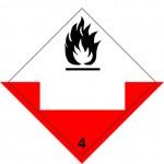 4.2 Voor zelfontbranding vatbare stoffen met wit UN-vlak logo