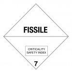 7.4 Radioactieve stoffen met tekst (Fissile) logo
