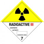 7.3 Radioactieve stoffen met tekst (Radioactive III) logo