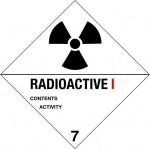 7.1 Radioactieve stoffen met tekst (Radioactive I) logo