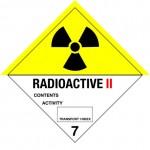7.2 Radioactieve stoffen met tekst (Radioactive II) logo