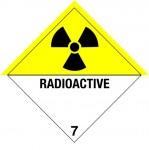 7.0 Radioactieve stoffen met tekst (Radioactive) logo