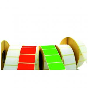 Blanco etiketten op rol logo