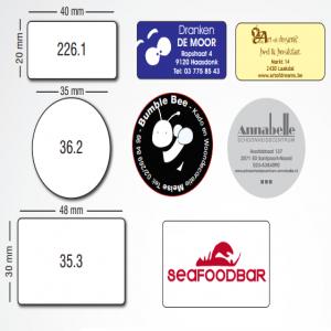 Etiketten in PROMOTIE logo