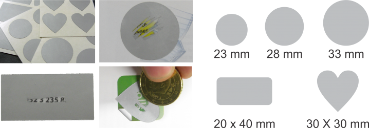 Scratch-off etiketten