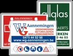 Werfborden grote aantal logo