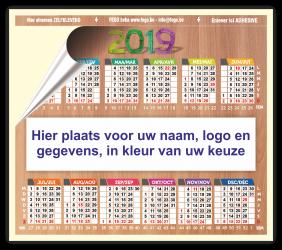 Zelfklevende kalender