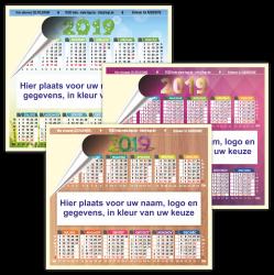 Bedrukte kalender