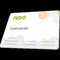 PVC Naamkaartjes