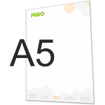Briefpapier A5 logo