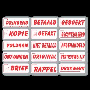 Tekststempel logo