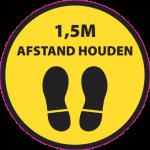 Vloerstickers afstand houden logo